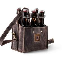 Männerhandtasche Bier aus Wildleder